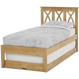 Serene Furnishings Serene Autumn Hevea Wood Honey Oak Guest Bed