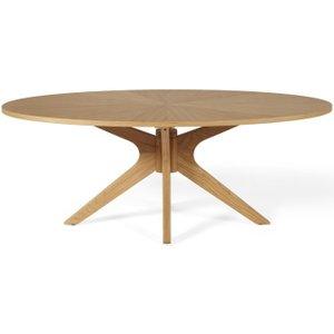 Serene Furnishings Serene Bexley Oak Oval Coffee Table