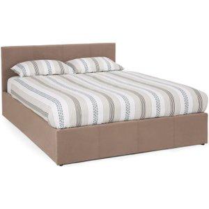 Serene Furnishings Serene Evelyn Latte Fabric Ottoman Bed, Latte
