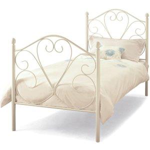 Serene Furnishings Serene Isabelle 3ft White Metal Bed