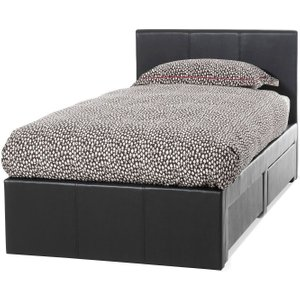 Serene Furnishings Serene Latino Brown Faux Leather 3ft Storage Bed, Brown