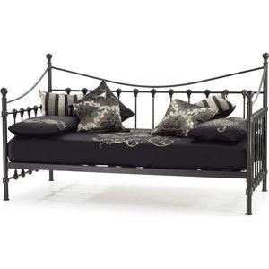 Serene Furnishings Serene Marseilles Black Metal Day Bed, Black