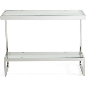 Serene Furnishings Serene Mera Console Table - Glass And Chrome