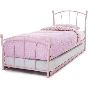 Serene Furnishings Serene Penny Pink Metal Guest Bed