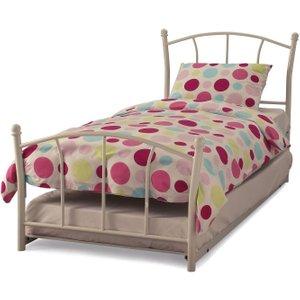 Serene Furnishings Serene Penny White Metal Guest Bed
