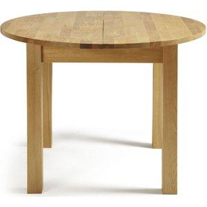 Serene Furnishings Serene Sutton Oak Round Extending Dining Table, Oak