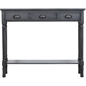 Deco Home Serra Grey 3 Drawer Console Table