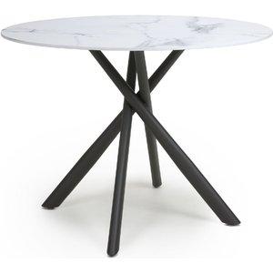Shankar Enterprises Shankar Avesta White Marble Effect Round Dining Table, White