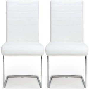 Shankar Enterprises Shankar Callisto White Leather Dining Chair (pair), White
