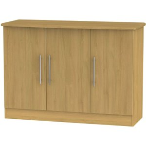 Welcome Furniture Sherwood Modern Oak 3 Door Narrow Sideboard