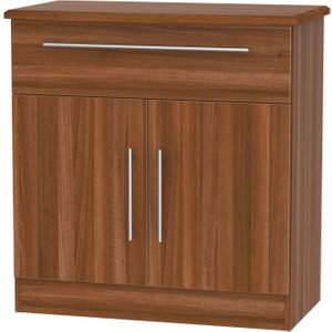 Welcome Furniture Sherwood Noche Walnut 2 Door 1 Drawer Narrow Sideboard