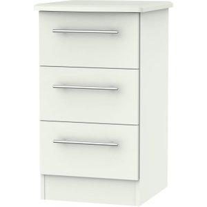 Welcome Furniture Sherwood Porcelain Matt 3 Drawer Bedside Cabinet, Porcelain Matt