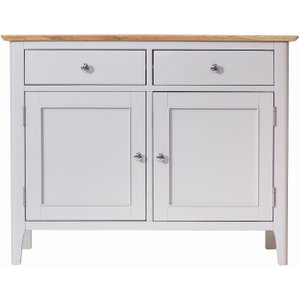 Scuttle Interiors Shore Medium Sideboard - Oak And Dove Grey Painted