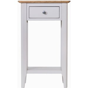 Scuttle Interiors Shore Telephone Table - Oak And Dove Grey Painted, Dove Grey Painted