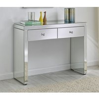 Glimmer Furniture Shreveport Mirrored Console Table, Mirrored