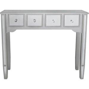 Deco Home Siena Silver Mirrored Console Table