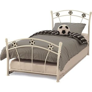 Serene Furnishings Soccer White Guest Bed Socc300whbgb, white