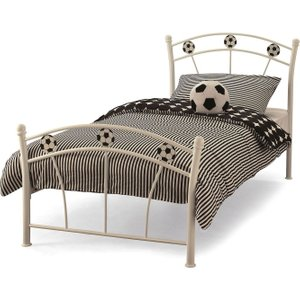 Serene Furnishings Soccer White Single Bed, White