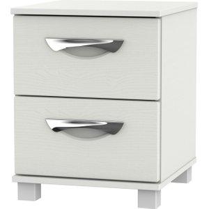 Welcome Furniture Somerset Light Grey Klein 2 Drawer Bedside Cabinet, Light Grey Klein