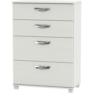 Welcome Furniture Somerset Light Grey Klein 4 Drawer Deep Chest, Light Grey Klein