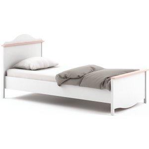 Arte Nova Sophia White Bed With Mattress, White Matt