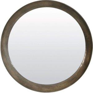 Light & Living Spirit Antique Silver Round Mirror - 120cm X 120cm, Silver