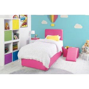Swanglen Starburst Cerise Fabric Childrens Bed Base, Starburst Cerise