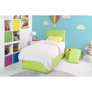 Swanglen Starburst Lime Fabric Childrens Bed Base, Starburst Lime