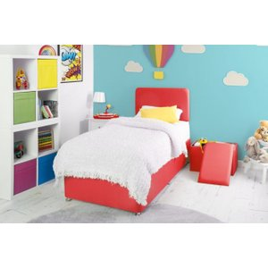 Swanglen Starburst Red Fabric Childrens Bed Base, Starburst Red