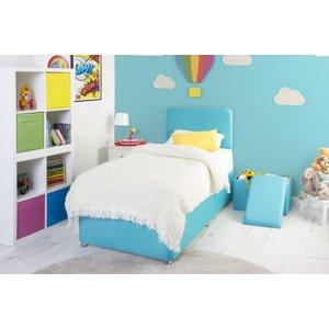 Swanglen Starburst Turquoise Fabric Childrens Bed Base, Starburst Turquoise