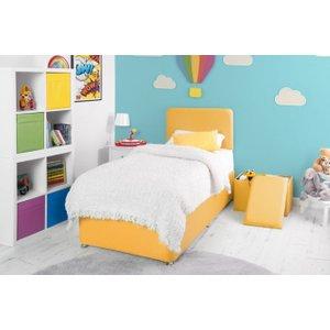 Swanglen Starburst Yellow Fabric Childrens Bed Base, Starburst Yellow