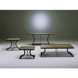 Stone International Aurora Lamp Table - Marble And Rusty Iron