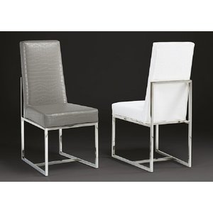Stone International Bess Leather Dining Chair (pair)