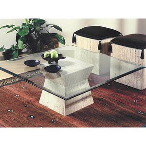 Stone International Clepsy Marble Coffee Table Base Only