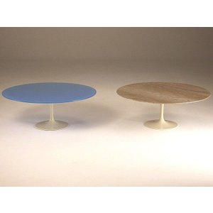 Stone International Flute Marble Occasional Table With Metal Base