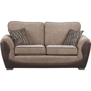 Sweet Dreams Cassley 2.5 Seater Chocolate And Gold Fabric Sofa, Chocolate and Gold