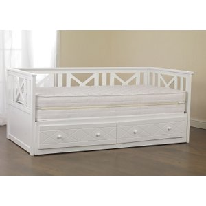 Sweet Dreams Chaise Sparkling White Daybed