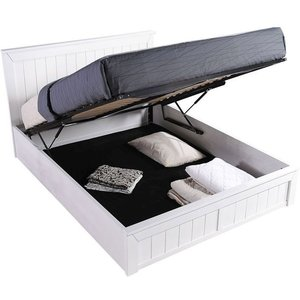 Sweet Dreams Chandler White Ottoman Bed