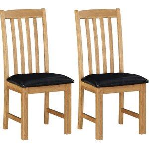 Sweet Dreams Heald Oak Dining Chair (pair)