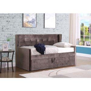 Sweet Dreams Lucas 3ft Single Mink Fabric Bed, Mink