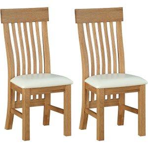 Sweet Dreams Rossendale Oak Dining Chair (pair)