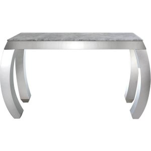 Deco Home Swish Console Table - Marble Effect And Chrome