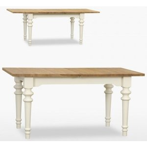 TCH Furniture Tch Coelo 1 Leaf Small Extending Dining Table Col102 - Oak And Painted, Painted