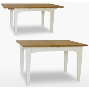 Tch Furniture Tch Coelo 1 Leaf Small Extending Dining Table Col101 - Oak And Painted, Painted