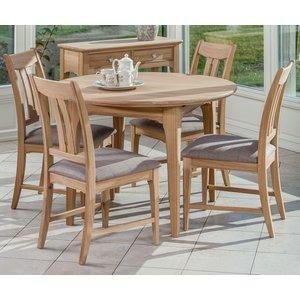 Tch Furniture Tch New England Oak Round Extending Dining Table, Oak