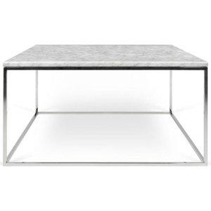 Tema Home Temahome Gleam 75cm White Marble And Chrome Coffee Table