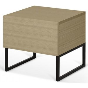 Tema Home Temahome Mara Oak Bedside Cabinet With Metal Legs