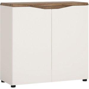 Furniture To Go Toledo Narrow Sideboard - Oak And High Gloss White