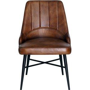 Urban Deco Toronto Genuine Leather Dining Chair - Vintage Brown, Vintage Brown