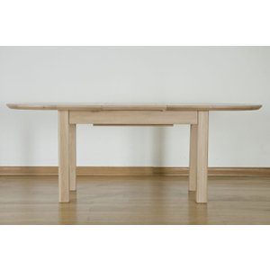 Fortune Woods Toulouse Oak Oval Extending Dining Table, Blonde Matt Lacquered